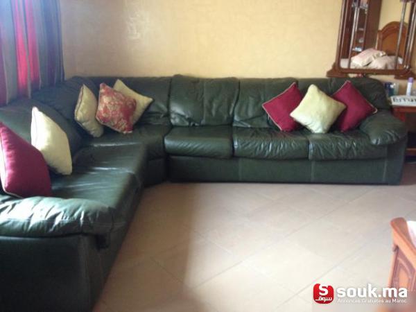 salon en cuir casablanca souk ma. Black Bedroom Furniture Sets. Home Design Ideas