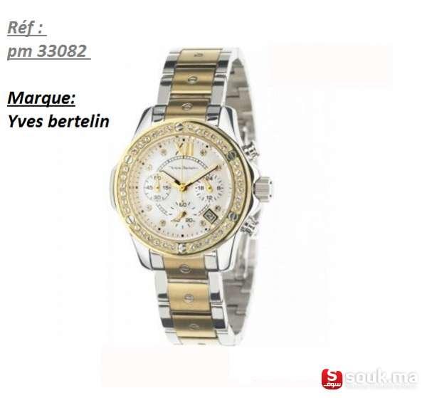 "44a2157bb4 je mets en vente la montre ""Yves Bertelin"" avec sa carte de  garantie ( 2 ans de garantie)"