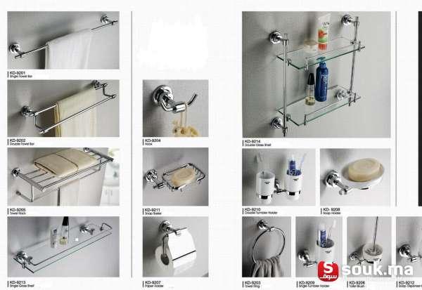 Equipements de salle de bain et douche casablanca souk - Accessoire salle de bain dore ...