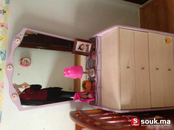 Chambre a coucher pour fille delightful chambre rose et for Miroir kitea