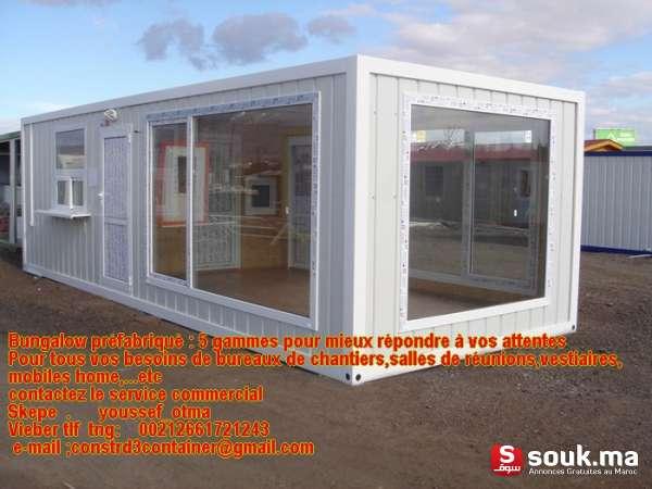 Construction Modulaire Contaiener Prefabrique Maroc Tanger