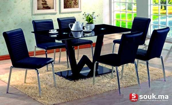 Table salle manger 6 chaises casablanca souk ma for Salle a manger casablanca