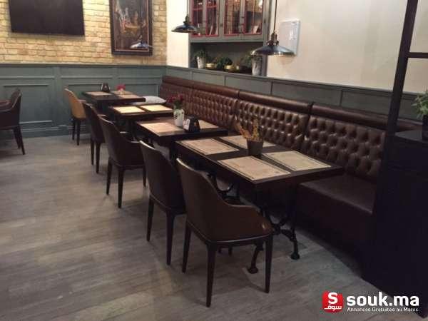 fauteuil banquette capitonn e pour restaurant rabat. Black Bedroom Furniture Sets. Home Design Ideas