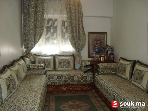 vente d 39 un salon marocain rabat souk ma. Black Bedroom Furniture Sets. Home Design Ideas