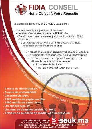 Vous Beneficiez De 7 Bonus Gratuit 3 Mois Domiciliation Comptabilite Conception Logo 1000 Unite Carte Visite