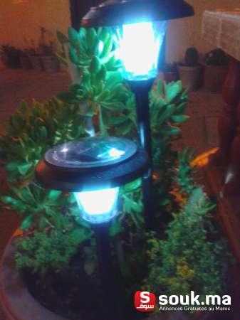 Lampe Lumière Solaire Jardin Mur Terrasse Cour Sans Alimenta ...
