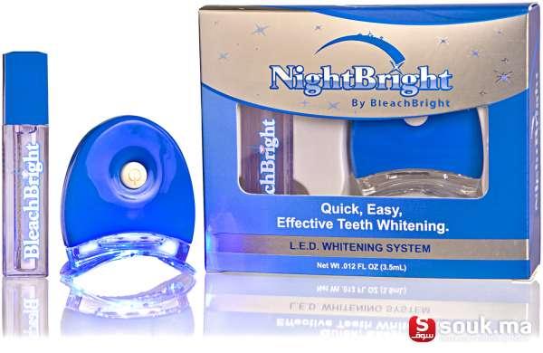 kit de blanchiment des dents a domicile nightbright casablanca souk ma. Black Bedroom Furniture Sets. Home Design Ideas