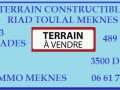 TERRAIN 489M² TOULAL MEKNES A VENDRE